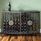 Wine Enthusiast 634 01 84- Bottle Antiqued Steel Wine Jail Console, Bronze