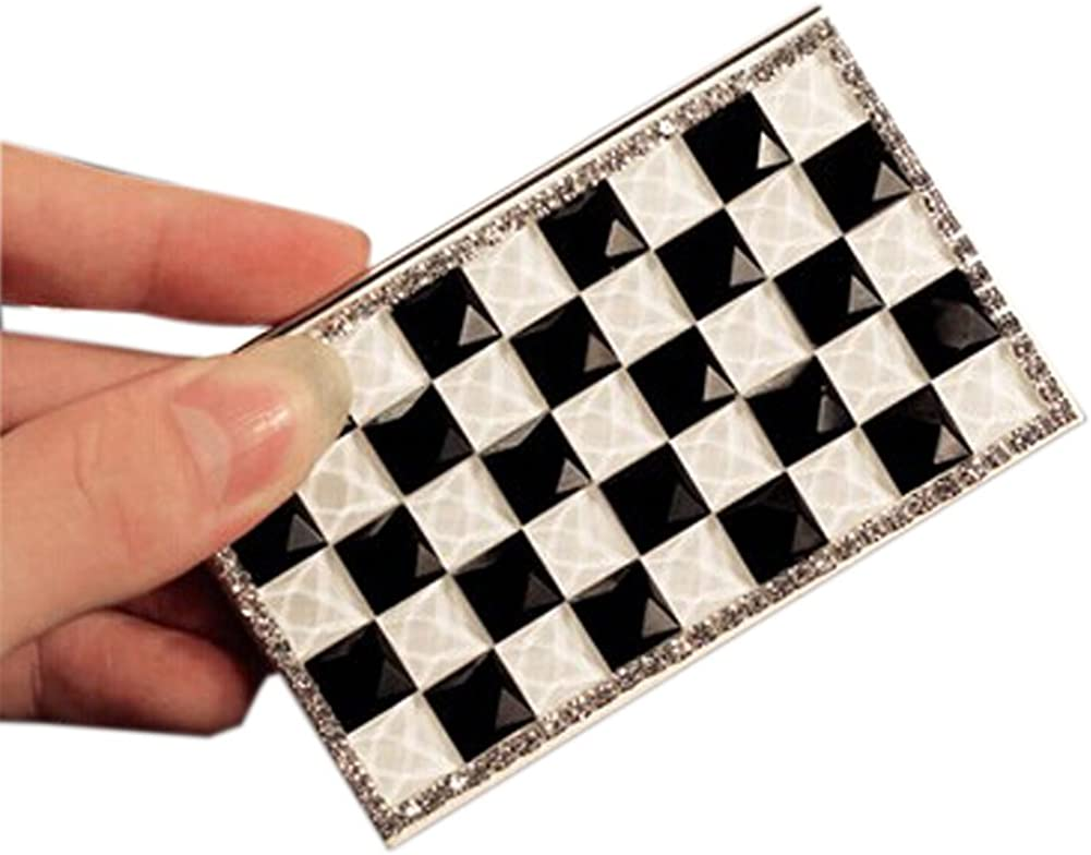 Shinning Rhinestone Classical Black Grids OFFicial Business Card Popular brand in the world White