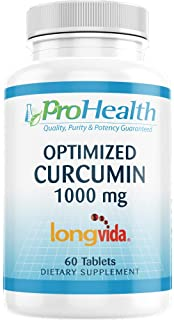 ProHealth Optimized Curcumin Longvida (1000 mg, 60 Tablets) 285x More Bioavailable | Joint Health | Memory and Cognition |...