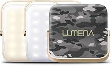 Lumena Compact Executive Portable LED Light 1300 Lumens 10000mAh and Power Bank Phone Charger for Camping, Outdoors, Activities and Travel