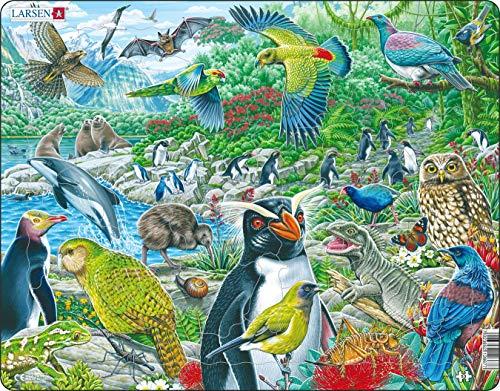 Larsen FH44 La Vida Silvestre de Nueva Zelanda, Puzzle de Marco con 53 Piezas