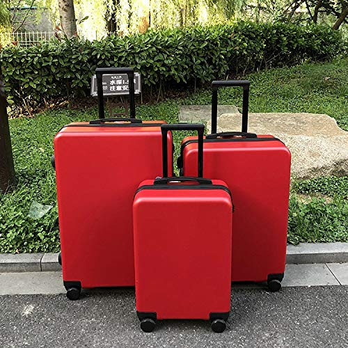 QFSZWX 20' 24' 26' inch new brand Men business Koffer travel rolling suitcase spinner valise cabin luggage trolley bag on wheels (Color : Red, Luggage Size : 24')