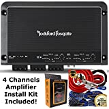 Rockford Fosgate R250X4 250 Watt RMS 4-Channel Car Amplifier + Amp Wire Kit
