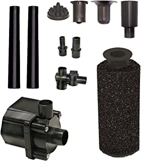 Beckett Corporation Pond Pump Kit with Prefilter and Nozzles, 500 GPH