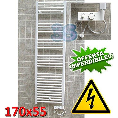 Scaldasalviette CORTINA Elettrico Bianco 170X55 cm - con Termostato