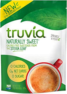 Truvia Naturally Sweet Calorie-free Sweetener from the Stevia Leaf, 17 Ounce (Pack of 1) Bag, Stevia Leaf Extract blended with Erythritol Sweetener