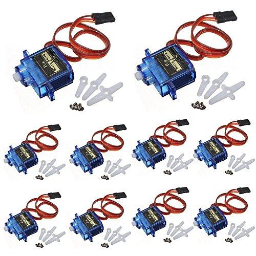 Ybee 10x Pcs SG90 Micro Servo Motor Mini SG90 9g Servo for RC...