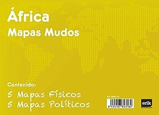Grupo Erik Editores Pack 10 Mapas Mudos Africa Politica Fisica