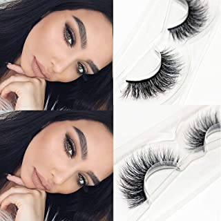 CGlashes Femme Fatale Overlapping Style 3D Mink False Eyelashes Hand-made Reusable 1 Pair Package (V-3D10)