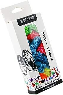 CHEE MONG Yoyo Strings Pack of 25 - MAGICYOYO Polyester Yoyo String, Yoyos String Replacement for Responsive or Unresponsive Yoyo - Blue, Green, Yellow, Purple, Orange