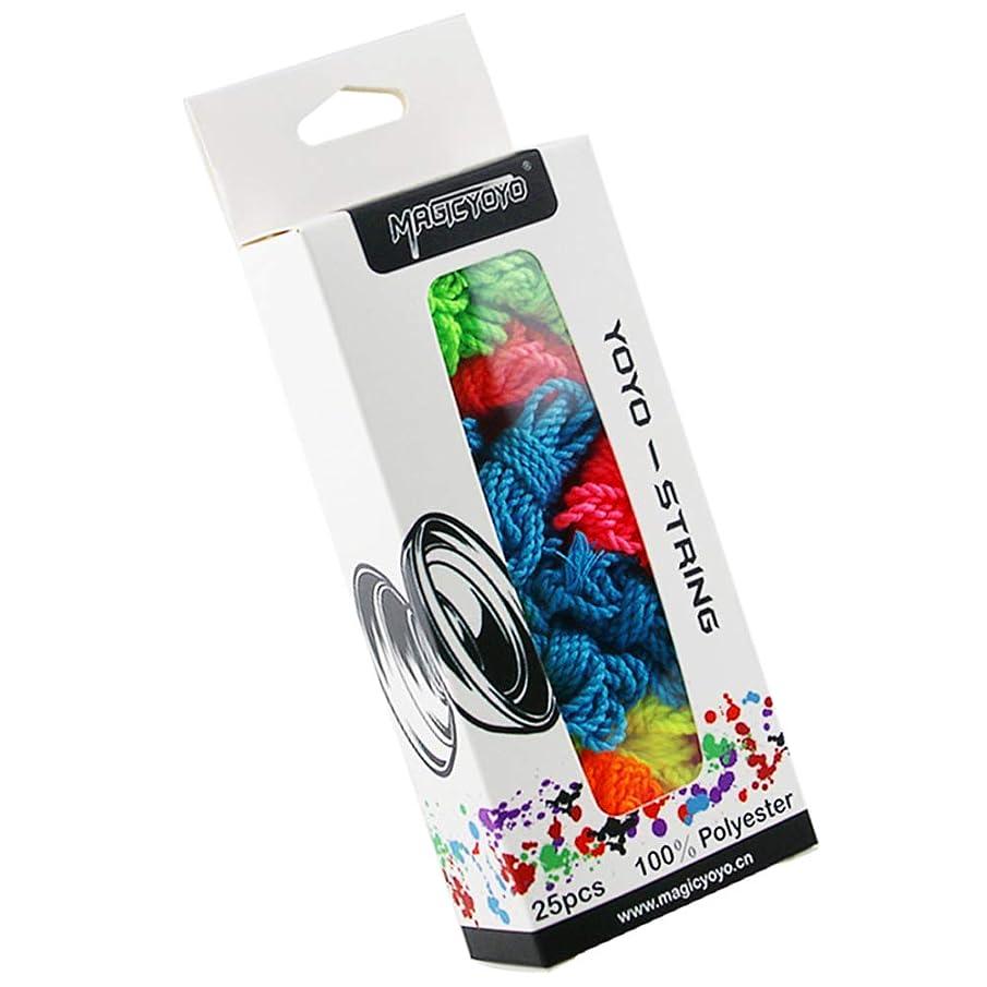 CHEE MONG Professional Yoyo Strings Pack of 25 - MAGICYOYO Polyester Yo-yo String, Blue, Green, Yellow, Purple, Orange Yoyos String Replacement for Responsive or Unresponsive Yoyo