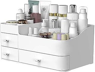 طراحی کننده آرایش با کشو ، محل نگهداری میز پیشخوان شیک BREIS برای لوازم آرایشی و نگه دارنده ظرافت ظریف برای برس ، سایه چشم ، لوسیون ، رژ لب ، لاک ناخن و جواهرات (سفید)