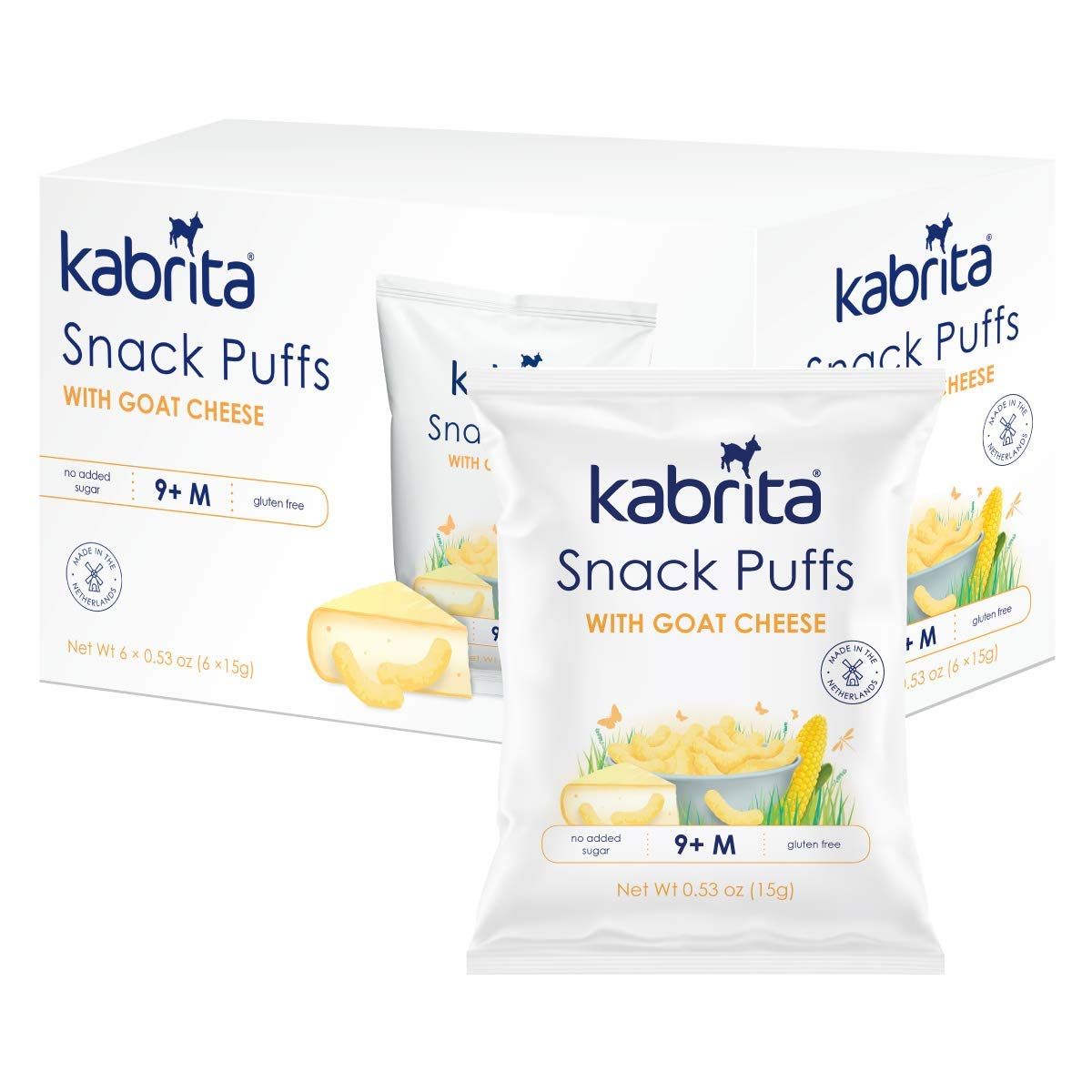 Kabrita Snack Puffs With 1.5 Louisville-Jefferson County Mall Cheese Goat Ounce Directly managed store