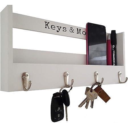 Schlüsselbord Glas Edelstahl Schlüsselbrett Schlüsselkasten Schlüsselhalter