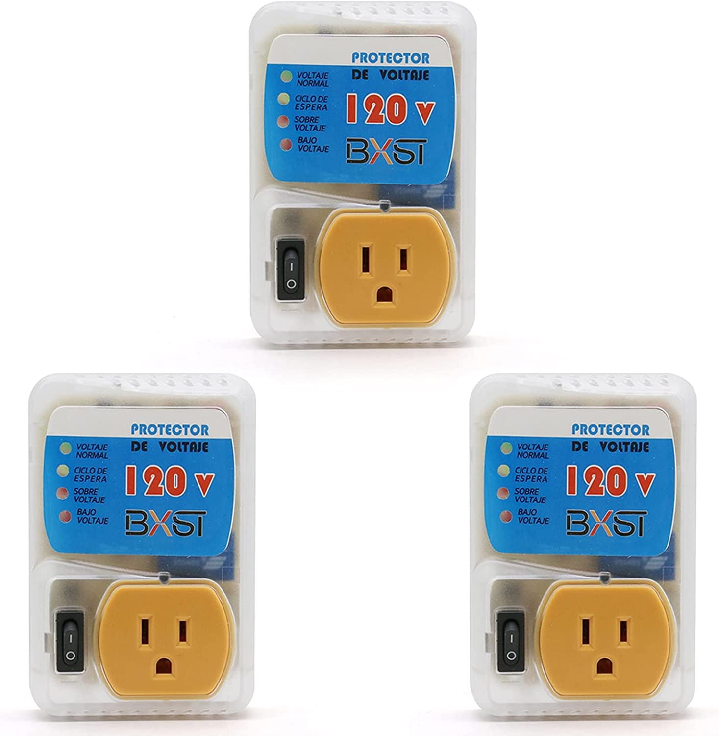 1 Outlet Surge Protector, BSEED 120V Voltage Protector Portable Power Strip Multi Function Plug Outlet Extender with Indicator Lights Wall Adapter for Home/Office/School/Travel 2400W 3 Pack