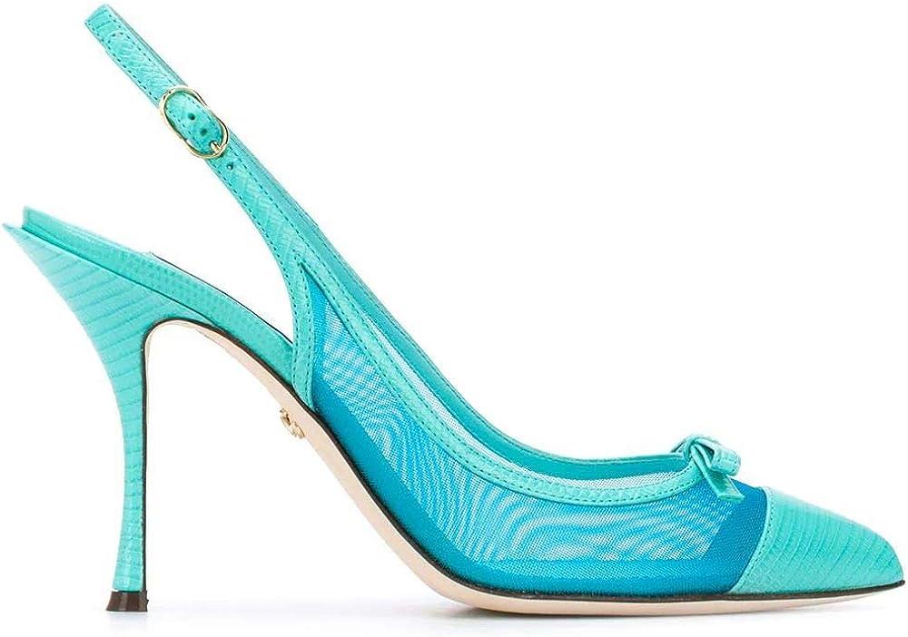 Dolce & gabbana luxury fashion scarpe con tacco da donna in pelle CG0400AX0478L610