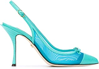 DOLCE E GABBANA Luxury Fashion Womens CG0400AX0478L610 Light Blue Heels | Spring Summer 20