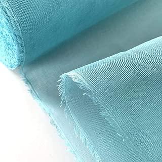 蚊帳生地 切り売りミントブルー 1m単位 綿100% お好みのサイズでふきんやタオルが作れます。お玄関の蚊帳カーテン インテリア ペットゲージの虫よけ ふきん タオル 赤ちゃんのスタイ 蚊帳 ベビー虫よけ ネット 手芸 刺繍 ミシン