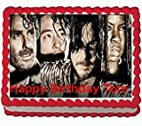 Walking Dead Edible Cake Image 1/4 sheet