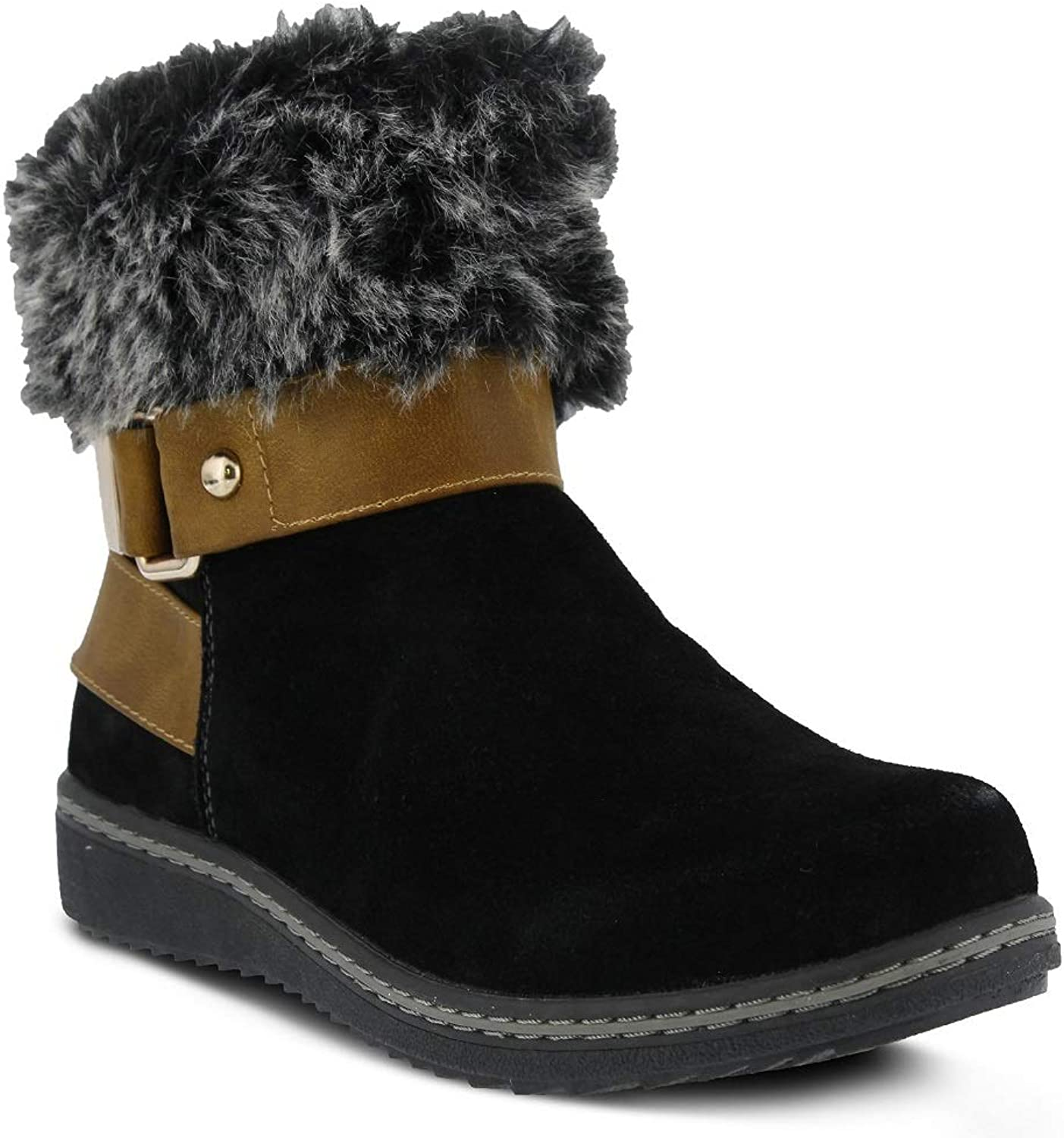 Spring Step Women's Popsicle Bootie   color Black   Suede Bootie