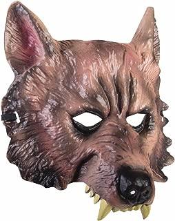 Adult Wolf Half Mask - Adult Std.