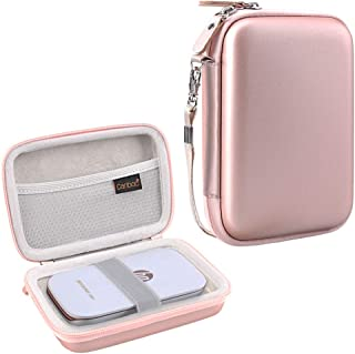 Canboc Shockproof Carrying Case Storage Travel Bag for HP Sprocket Plus/Select Instant Photo Printer, Kodak Mini 2 / Mini Shot Portable Mobile Printer Camera Protective Pouch Box,Rose Gold