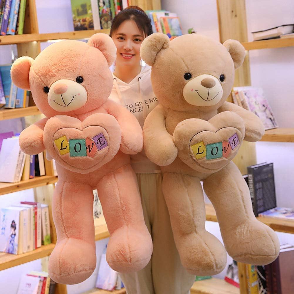 ZJHCC Ik hou van jou Tatty Teddy Bear Kids Zachte Pluche Teddies Wit Reus Kind Valentines Gift Speelgoed Poppen Beige