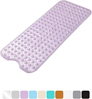 AmazerBath Bath Tub Mat, Extra Long 39 x 16 Inches Non-Slip Shower Mats with Suction Cups..