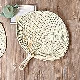 Handfächer im chinesischen Stil, natürliches Handgewebe, Palmblattfächer, Ventilator für Outdoor, Camping, Wandern