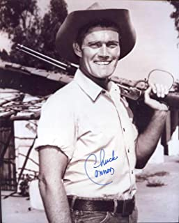 Chuck Connors (D.) Autographed/Original Signed 8x10 Sepia Photo Showing Him As The RIFLEMAN - Connors Also Played for the Brooklyn Dodgers in 1949 and the Chicago Cubs in 1951 -(COA)