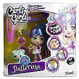 Rocco Giocattoli- Curli Girls Bambola Deluxe Ballerina Rosli & Koda, 82086