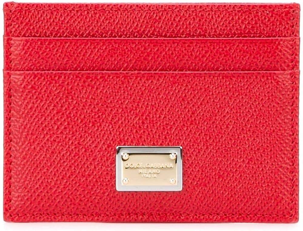 Dolce & gabbana luxury fashion ,portacarte di credito,in vera pelle BI0330A100180303