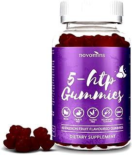 5 HTP Gummies Enhanced with Valerian Root - 60 Passionfruit Gummies Alternative to 5HTP Capsules Pills - Enhanced 5HTP Sup...