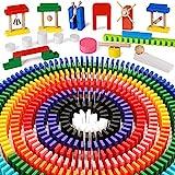 Lewo 1000 pièces Jeu de Domino en Bois Jouet Classique Jeux de Tuiles Jeu D'exploration Jeux de Course Blocs de Construction Jouets éducatifs pour Enfants