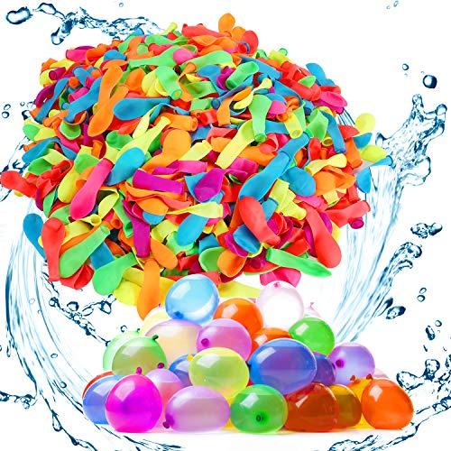 Gafild 1000 Wasserballons Bunt Gemischt Luftballons Set, Latex Wasserbomben,Luftballons Wasserballons Kit für Partys, Wasserschlacht und Andere