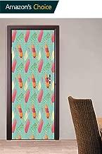 3D Door Decal Door Stickers, Polka Dotted Ice Pops Door Stickers Decor Door Mural Removable Vinyl Door Wall Mural, 30.3W x 78.7H Inches