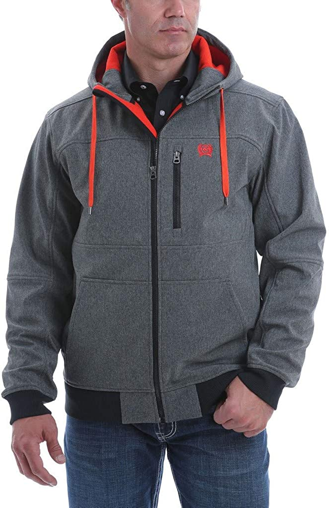 Cinch Apparel Mens Jacket Black Bonded Max 75% OFF Many popular brands