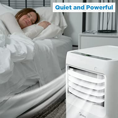 MIDEA 3-in-1 Portable Air Conditioner, Dehumidifier, Fan, for Rooms up to 175 sq ft, White