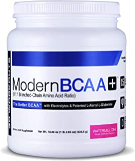 Modern BCAA+ Essential Amino Acid (EAA) Branched Chain Amino Acid (BCAA) Muscle Recovery Supplement Powder Drink Mix, Watermelon - 30 Servings