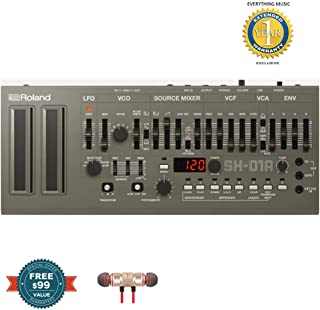 Roland SH-01A Boutique Series 4-voice Synthesizer Moduleincludes Free Wireless Earbuds - Stereo Bluetooth In-ear and 1 Year Everything Music Extended Warranty
