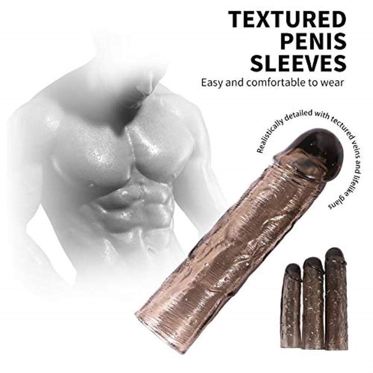 Zeezm素敵で魅力的な 男性とカップルのギフト用のサポートリング玩具付き男性用拡張拡張ペニの胴周り強化スリーブ 軽量