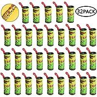 Binen 32 Pcs moscas adhesivas Atrapa Moscas Adhesivo Trampa Moscas Fruta, 2020 Actualizar superadhesivas atrapamoscas, cintas desechables no tóxicas, para casa,cocina,granja,vertedero - 100% seguridad