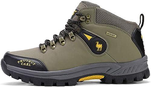 ZX Antidérapant Chaussures de Sport en Plein Air Chaussures de Randonnée Chaussures de Marche Imperméables Bottes de Plein Air pour Hommes Haut Chaussures d'escalade Résistant à l'usure pour Hommes