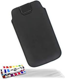 """MUZZANO Original""""Le Sweep"""" Case Cover for Samsung Galaxy Express with 3 Ultra-Clear Screen Protectors - Black"""