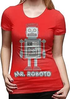 Mr Roboto Women's Fashion Short-Sleeved T-Shirt Tee-Shirt