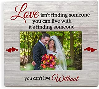 BANBERRY DESIGNS Engagement Gifts - Couples Love Picture Frame with Someone You Can't Live Without Saying - Fits a Standard 4 X 6 Photograph