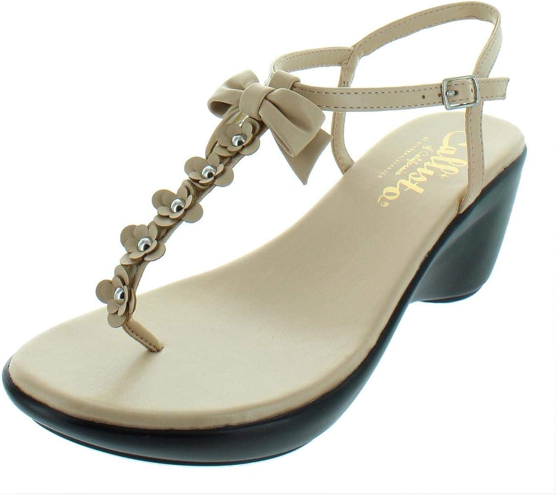 Callisto of California Womens Laureen Platform Thong Wedges