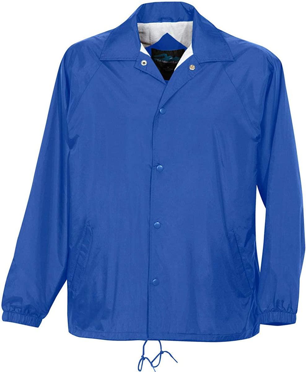Imperial Blue Color 7 Sizes - Coach Jacket Men's Big and Tall Flannel Lining