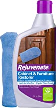 Rejuvenate Cabinet & Furniture Restorer Fills in Scratches Seals and Protects Cabinetry, Furniture, Wall Paneling 13oz with Mitt