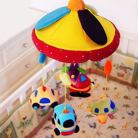 ベッドメリー赤ちゃん モビール35曲 寝かしつけ用品 ベビーベッドメリー オルゴール ベビーメリー ぬいぐるみ 音楽回転 ベビー用おもちゃ 視覚 聴覚に刺激 出産お祝い プレゼント 可愛い玩具 (クルマ飛行機)